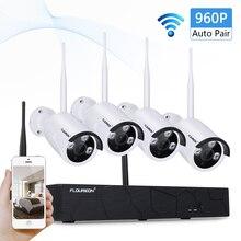 Floureon беспроводная система безопасности, 4CH 1080P Беспроводной NVR с 4 шт 1.3MP 960P IP камера безопасности, P2P CCTV камера системы