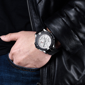 Image 5 - MEGIR Chronograph Sport Watch Men Creative Big Dial Army Military Quartz Watches Clock Men Wrist Watch Hour Relogio Masculino