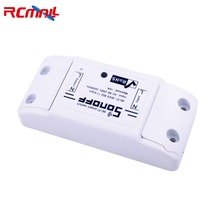 RCmall Sonoff Smart Home Wireless Remote Control Wifi Switch Intelligent Timer 220V Control for Iphone Android IOS FZ1758C недорого