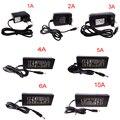 12 V 5 V 1A 2A 3A 4A 5A 6A 8A 10A Poder cabo do transformador adaptador de alimentação para led faixa de entrada AC110-220V navio rápido R