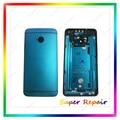 Бесплатная Доставка Новый Передняя Панель Рамка + Назад Корпус Батареи Дверь Задняя Чехол Для HTC One M7 801e Полный Корпус Синий цвет