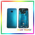 Free Shipping New Front Panel Bezel+Back Battery Housing Door Rear Cover Case For HTC One M7 801e Full Housing Blue Color