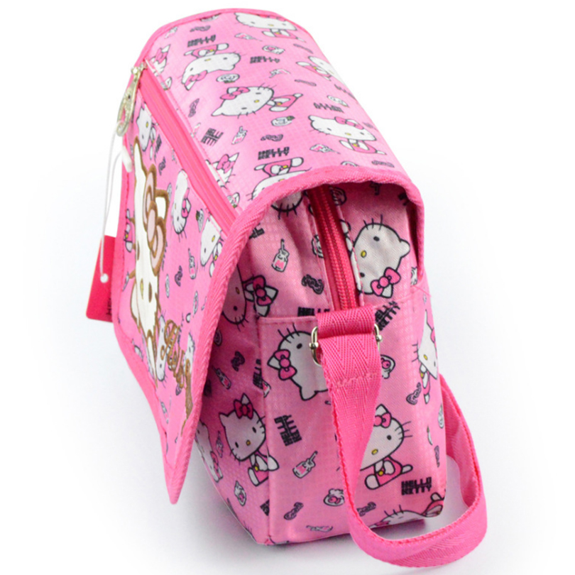 ... Hello Kitty Women Messenger Bags Young Lady Pretty Cartoon Bag Pink  Nylon Crossbody Bag for Children ... 26f58ce470171