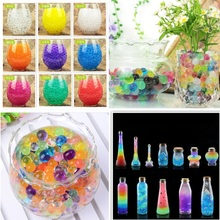 цены на 5 bags 500 Pcs multicolor Crystal Mud Hydrogel Crystal Soil Outdoor Water Beads Vase Soil Grow Magic Balls Kid's Toy Home  в интернет-магазинах
