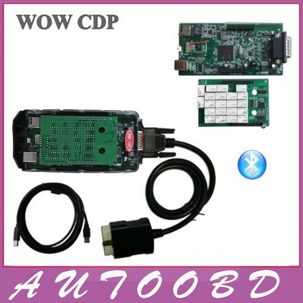 Зеленый pcb 8.0 NEC Реле WOW CDP WOW <font><b>snooper</b></font> с <font><b>Bluetooth</b></font> V5.00.8 R2 программного обеспечения VD TCS CDP PRO автомобили Грузовики авто программное средство диагностики
