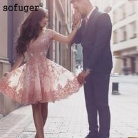 2018 Homecoming Dresses Off The Shoulder Knee Length Tulle Appliques Lace Elegant A Line Dresses