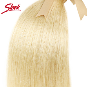 Image 3 - Sleek Bunte Haar Nerz Brasilianische Haarwebart Bundles10 To26 Zoll Honig Blonde 613 # Farbe Gerade Bunles Remy Haar Verlängerung