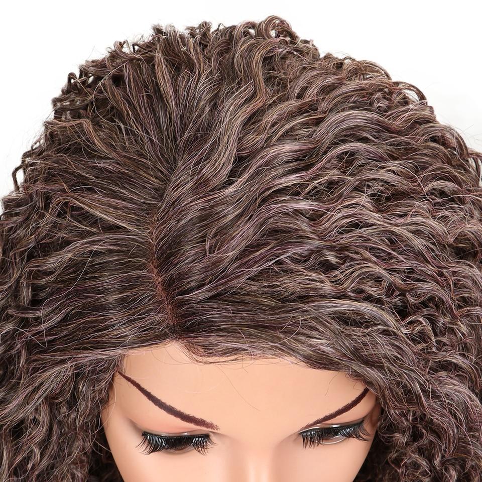 Perucas mágicas para cabelo encaracolado kinky preto