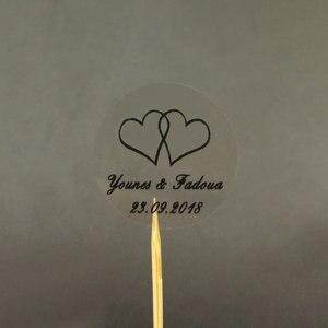 Image 5 - 150 шт. 30 мм индивидуальный Золотой Печатный персонализированный прозрачный Свадебный Пригласительный конверт с уплотнением наклейка