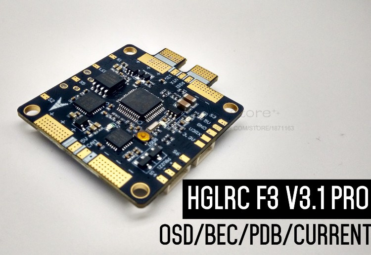 HGLRC SP racing F3 Pro 3.1V Integrated OSD 5V 12V 3A BEC ESC/VTX/CAM/SBUS/DSM welding position 2-6S for FPV drone racing pro racing pro 5 0