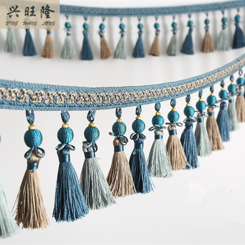 XWL Baru 6 M / lot 11 cm Lebar Manik-manik Tirai Renda Aksesoris - Seni, kerajinan dan menjahit