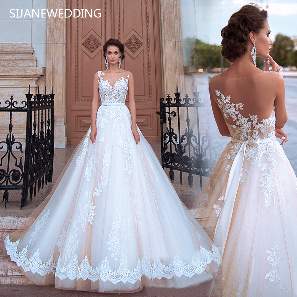 Wedding Dress Vestidos De Noiva Ball Gown Lace Wedding Party dress528