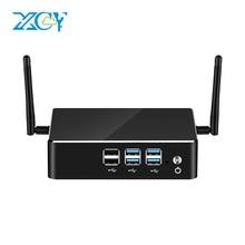 XCY X35 Mini PC 8th Gen Intel Core i3 8130U i5 8250U i7 8550U DDR4 mSATA 8*USB HDMI VGA WiFi Gigabit Ethernet 4K HTPC Windows 10 partaker b3 ddr4 mini pc 8th gen intel core i7 8550u i5 8250u quad core hdmi type c