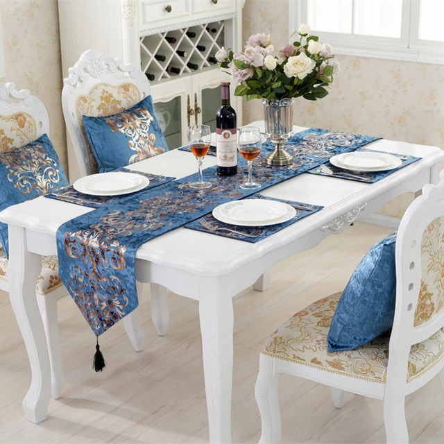 Handcraft Crafts Simple Modern Style Table Runner Wedding Party Banquet Home Hotel Decorations Decor