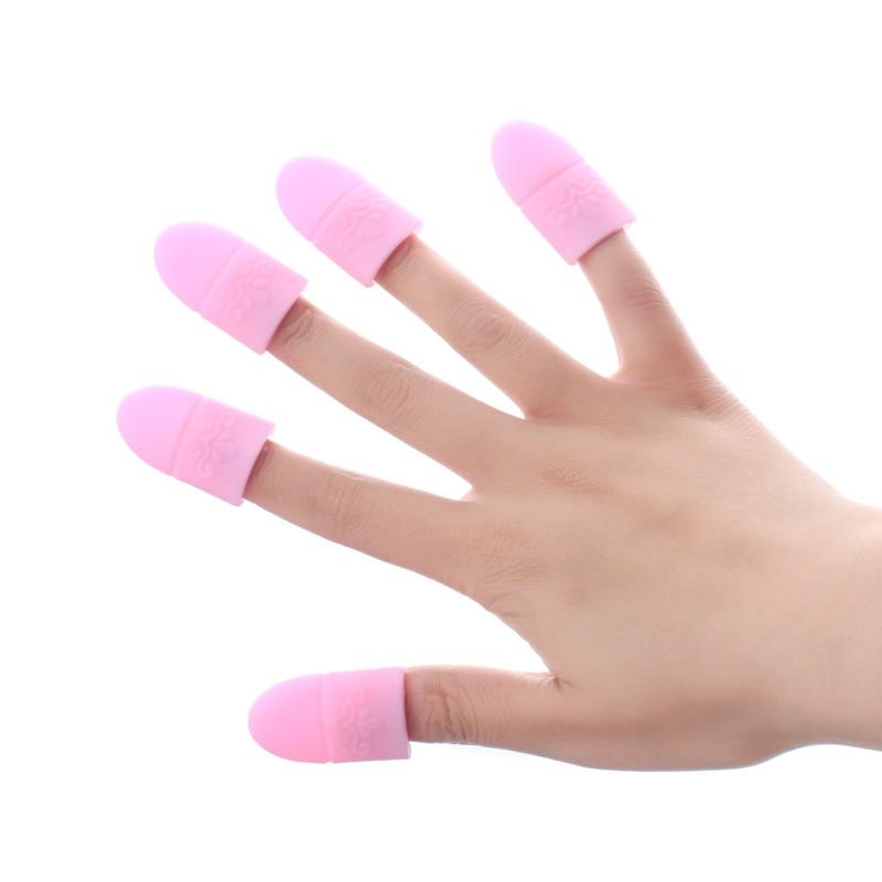 10 шт./лот Многоразовых УФ гель для снятия лака Обёрточная бумага эластичные силиконовые Soak Off Кепки Клип Маникюр Дизайн ногтей Инструменты