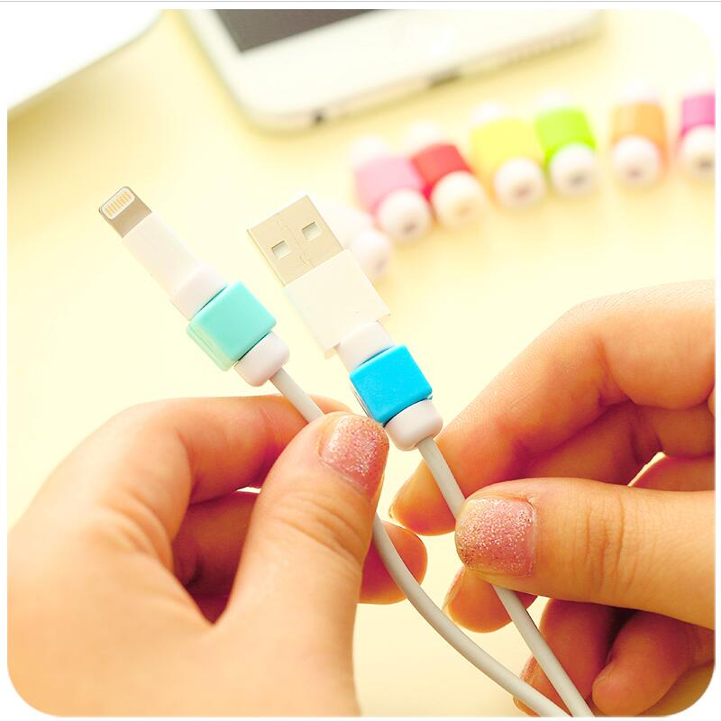 Простой милый защитный кабель для передачи данных, защитный чехол для iPhone, цветной зарядный кабель USB