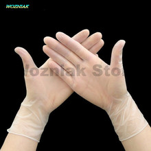 Wozniak Food grade Disposable PVC gloves Stomatology Department latex rubber Repair Antistatic Restaurant Oil proof Hand
