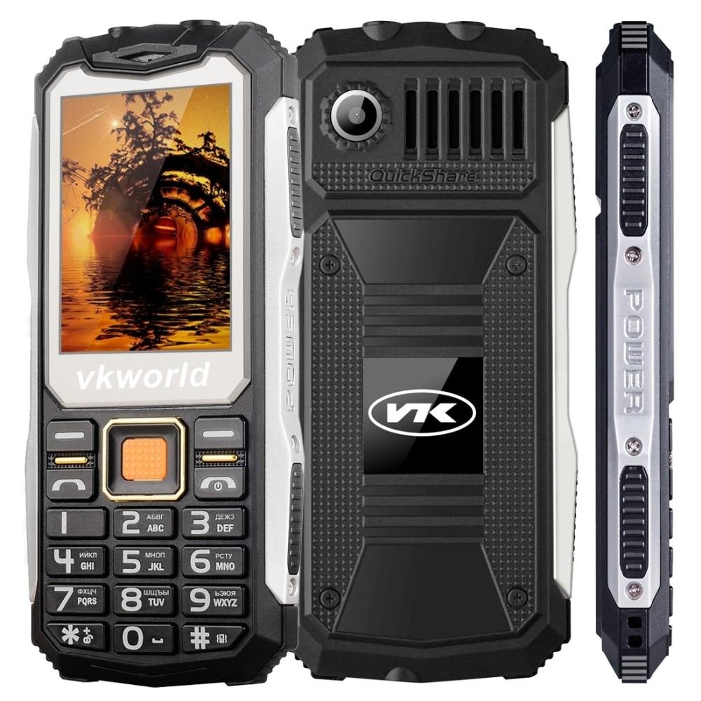 Originale VKWorld Pietra V3S 2.4 pollice Del Telefono Mobile GSM FM Tastiera Russa Dual SIM Cellulare Anti-Bassa Temperatura Dual HA CONDOTTO LA Luce