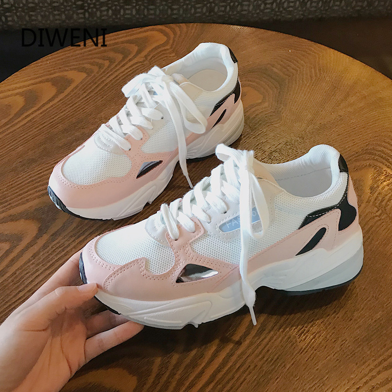 DIWEINI 2019 Autumn New Classic Chunky Sneakers Women Fashion Dad Sneakers Sneakers Comfortable Platform Casual Shoes Woman N102