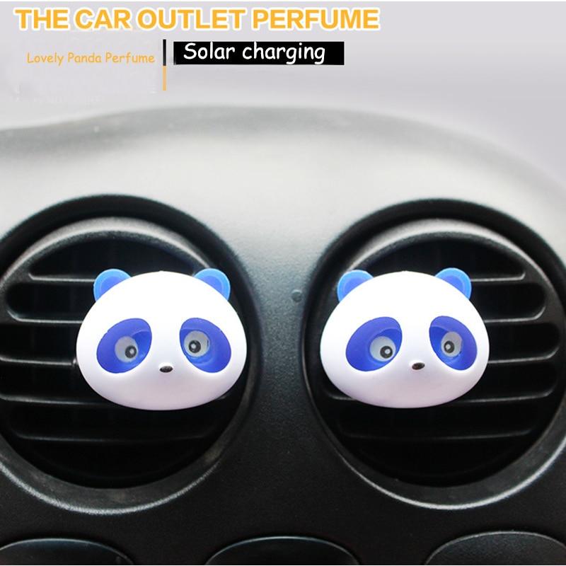 Стайлинга автомобилей Кондиционер Vent Освежители воздуха выходе автомобиля духи Прекрасный Panda Средства ухода для век 100 Оригинал автомобильный освежитель воздуха аромат