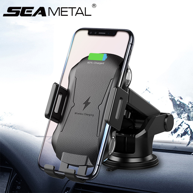 2019 New Car Wireless Charger Automobiles Phone Holder Fast Wireless Charging Cars Chargers Bracket For Iphone XS Samsung Huawei