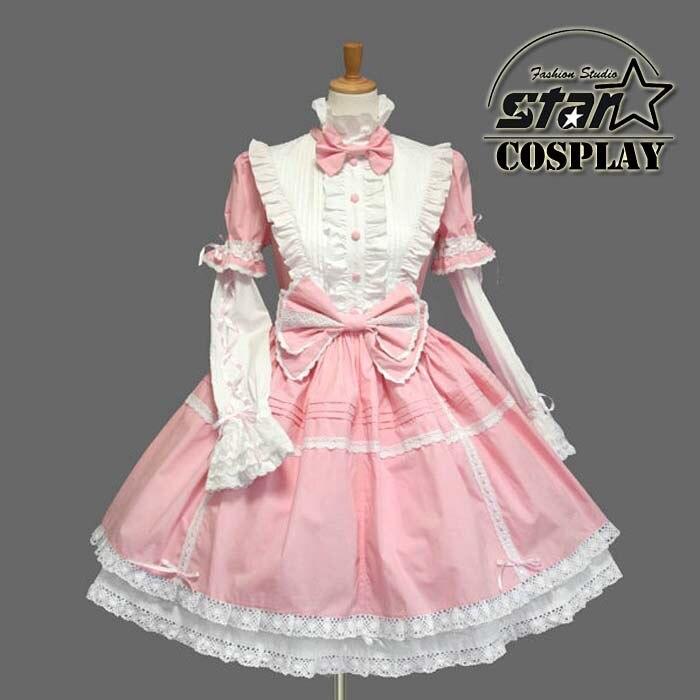 Girls Cinderella Princess Cotton Dress Halloween Victorian