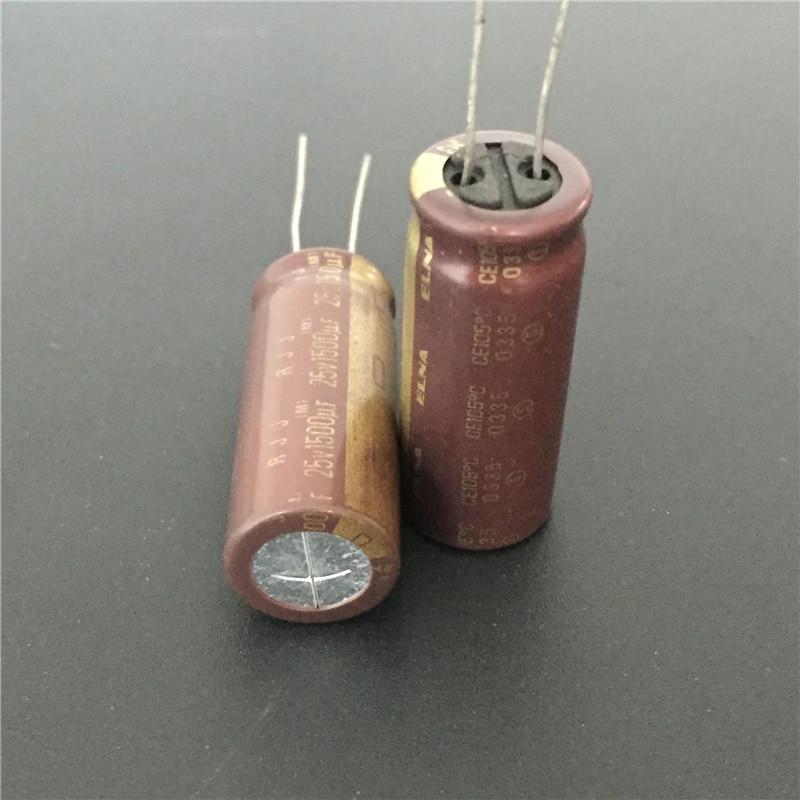 5pcs 1500uF 25V1500UF  Japan ELNA RJJ Low Impedance Audio Capacitor 12.5x30mm