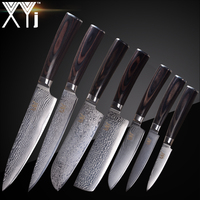 XYj Damascus Steel Knife Kitchen Cooking Knives Set Accessories 73 Layer Japanese VG10 Damascus Knife Kitchen Tools Accessories