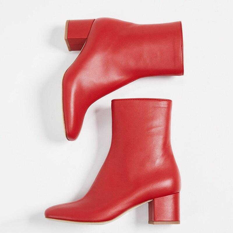 Mujer red Cuadrado Patente Señoras Cuero Zapatos Moda 2019 De Botas Pie Púrpura Tacón Rojo Corta Redondo Del Purple Primavera Dedo 38 Tobillo ABWwqpTq
