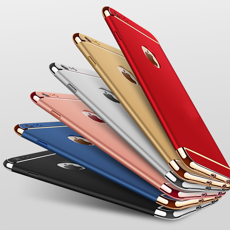 Case For iphone Xr Anti-Knock 3-in-1 PC Hard Protective Phone Case for iphone On the 5s SE 7 8 Plus X XS Max Cover Couqe On 6s