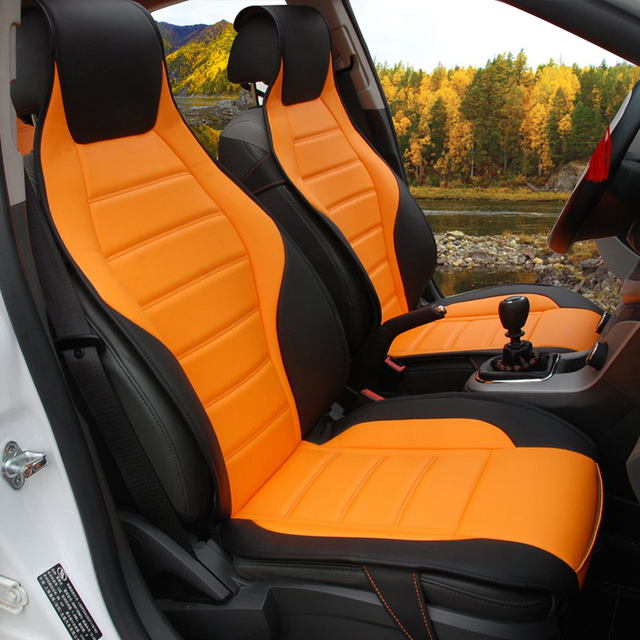 Apenas 2 Motorista Couro assento Especial tampas de assento do carro Para Ford mondeo Foco Fiesta Borda Explorador Taurus S-MA acessórios do carro