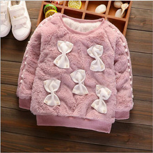 BABY Fur CLOTHES for NEWBORNS GIRLS thick Velvet SWEATER KIDS Pullovers SHIRT CHILDREN Winter Overalls BABY Infantil Sweater