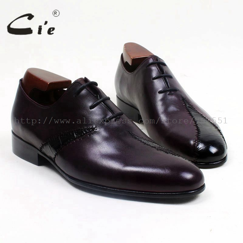 cie Round Toe Mackay/Blake Custom Handmade Calf Genuine Leather Outsole Breathable Men's Casual Oxfords Color Purple Shoe OX519 цены онлайн