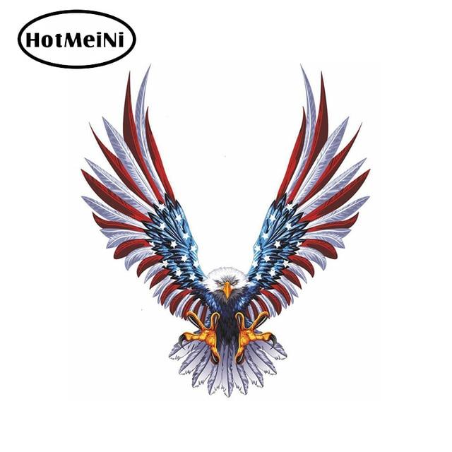 13x15cm 3d American Eagle Flag Wing Jdm Decal Animal Car