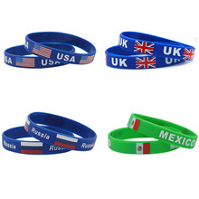 2018 football fans mexico Japan national flag wristbands(China)
