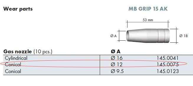 OEM Binzel BW MB 15AK MB15 15 AK Đầu Tiếp Xúc Đầu Phun Giá Đỡ MIG-200 Mỏ Hàn 11 chiếc MIG -160 JINSLU
