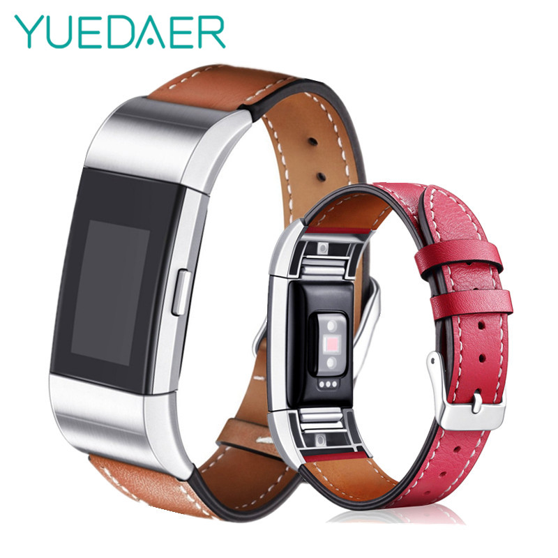YUEDAER Genuine Leather Strap for Fitbit charge2 smart band bracelet strap Replacement For fitbit charge 2 Belt 11Color Options