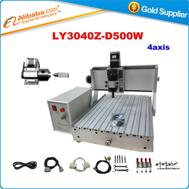 cnc router 4 axis cnc 3040 Z D 500W spindle cnc wood carving machine ...