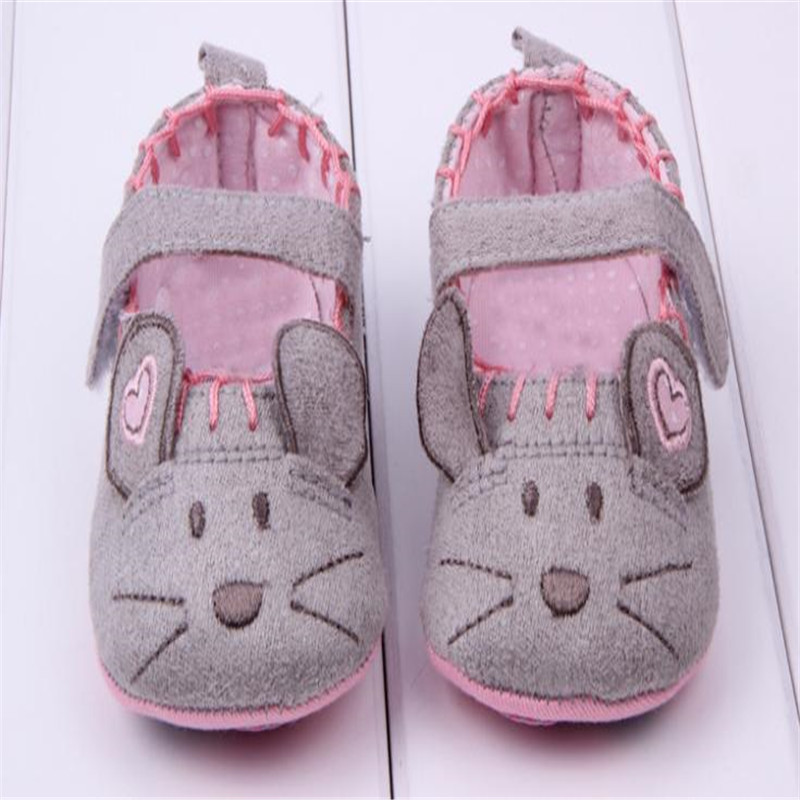 2019 Hot Selling Baby Shoes Spring Summer Princess Baby Girl First Walkers Cute Soft Sole Little Mouse Prewalkers