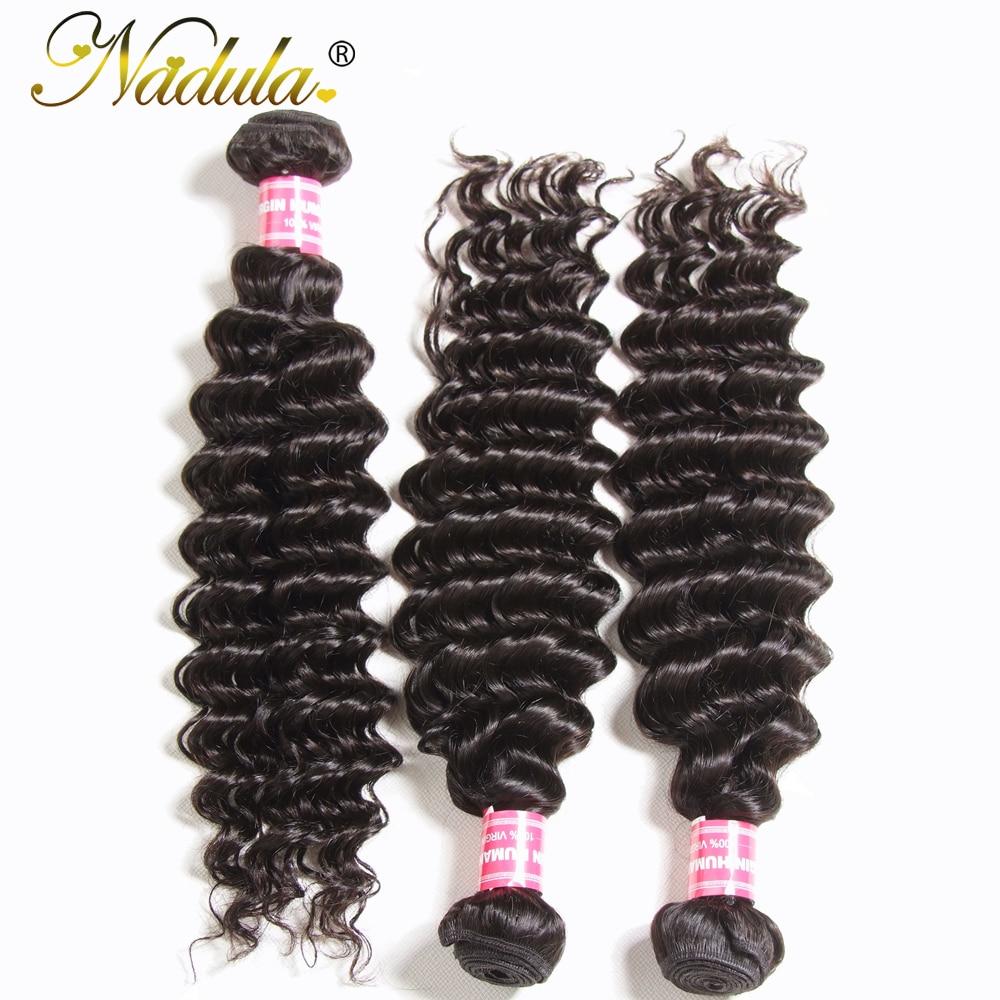 Nadula Hair 3 Bundles  Hair Deep Wave 12-26inch 100%   Bundles Natural Color  Hair s 4