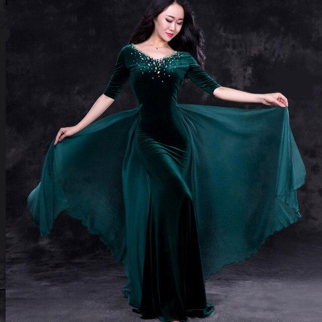 Ventre de danse orientale diamant broderie jupes soutien-gorge robe costume  pour la danse orientale f9d93a82632