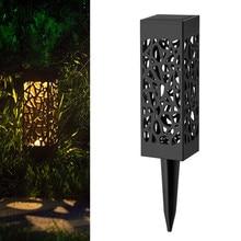 Полое освещение для лужайки на солнечной батарее Открытый водонепроницаемый светодиодный с солнечной батареей путь пейзаж газон свет садовый декоративный фонарь лампы для виллы двора