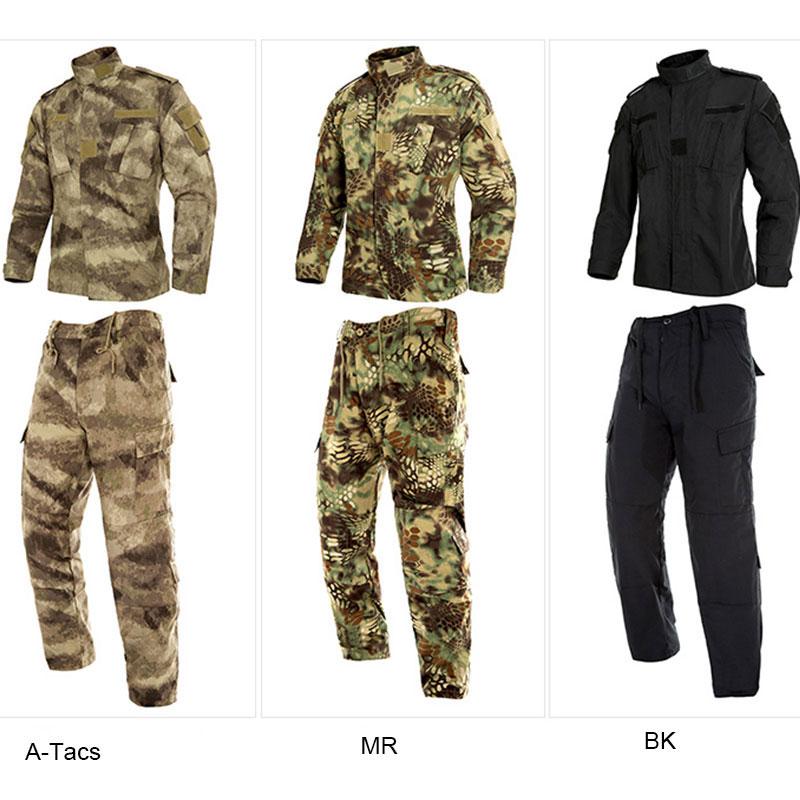 Military Hunting Clothes US Army Tactical Uniform Men Camouflage Suit Military Combat Uniform Set Shirt + Pants ACU Camo Clothin military uniform multicam army combat shirt uniform tactical pants with knee pads camouflage suit hunting clothes