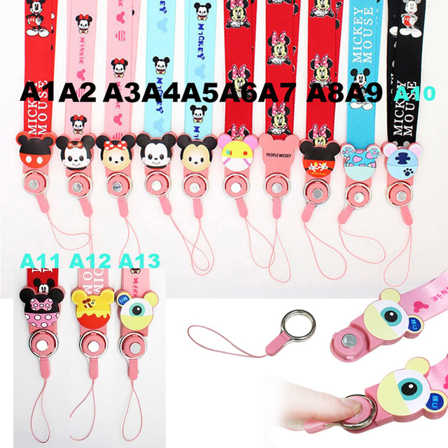 Cute Cartoon Mobile Phone Straps Rope For Samsung Galaxy S8 S7 edge iphone X Neck Strap