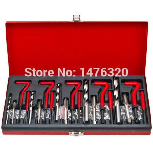 Damaged Thread Repair Tool Kit M5 M6 M8 M10 M12 AT2040 25 pc thread repair kit m5 x 0 8 x 6 7mm auto car tool helical coil set n008187a