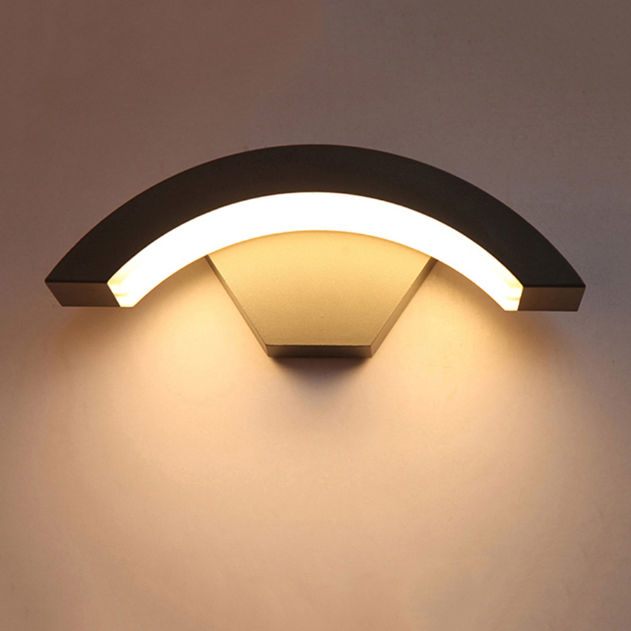Thrisdar 12W PIR Motion Sensor Outdoor LED Wall Porch Light Courtyard Garden Aisle Corridor Villa Balcony LED Wall Light
