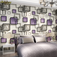 Beibehang Wallpaper Personality Simple Stereoscopic 3d Wallpaper Background Wallpaper The Living Room TV Pvc Papel De
