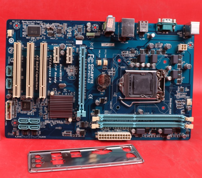 Free shipping original motherboard for GigabyteGA-P61-S3 LGA 1155 DDR3 I3 I5 I7 32nm 16GB USB2.0 P61-S3 H61 Desktop motherboard
