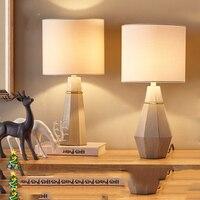 45x18cm Retro American Country Style Art Cement Body Design LED Home Decor Table Lamp E27