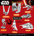 NEWEST Star Wars 3D Metal Model Puzzles SLAVE 1 8PCS/A LOTChinese Metal Earth Stainless Steel Military Series Creative Gifts